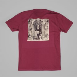 THEORIES OF ATLANTIS INITIATION TEE MAROON CREAM