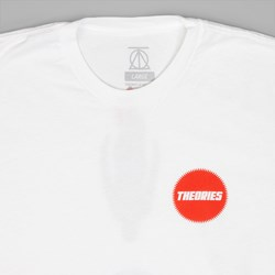 THEORIES RED CUBE TEE WHITE