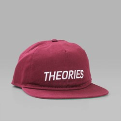 THEORIES STAMP COTTON TWILL SNAPBACK MAROON