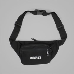 THEORIES STAMP DAY PACK HIP BAG BLACK