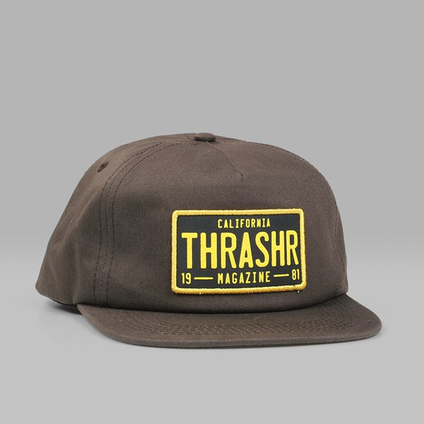 THRASHER DMV SNAPBACK CAP BROWN