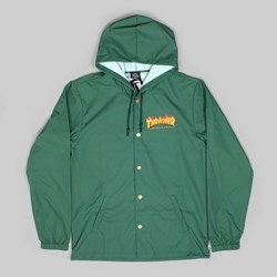 THRASHER FLAME LOGO JACKET FOREST GREEN