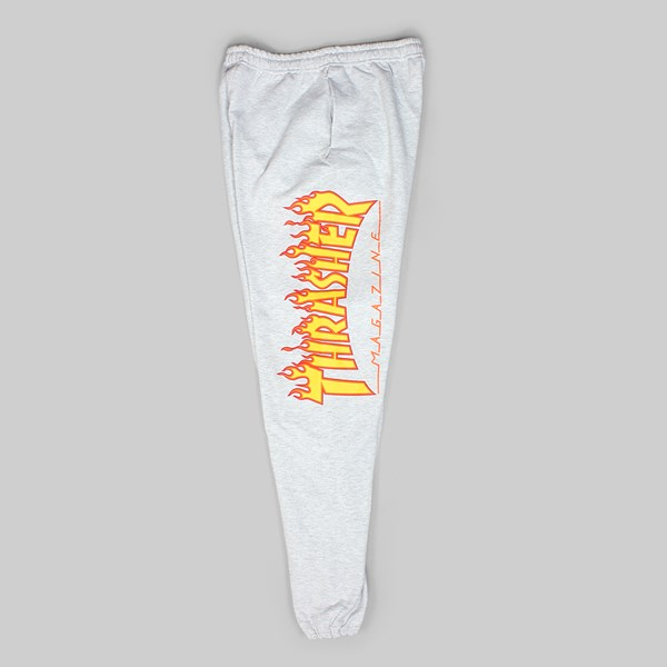 THRASHER FLAME LOGO SWEATPANTS GREY