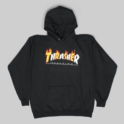 THRASHER FLAME MAG PO HOOD BLACK