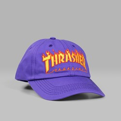 THRASHER FLAME OLD TIMER CAP PURPLE