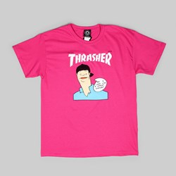 THRASHER GONZ COVER SS T-SHIRT PINK
