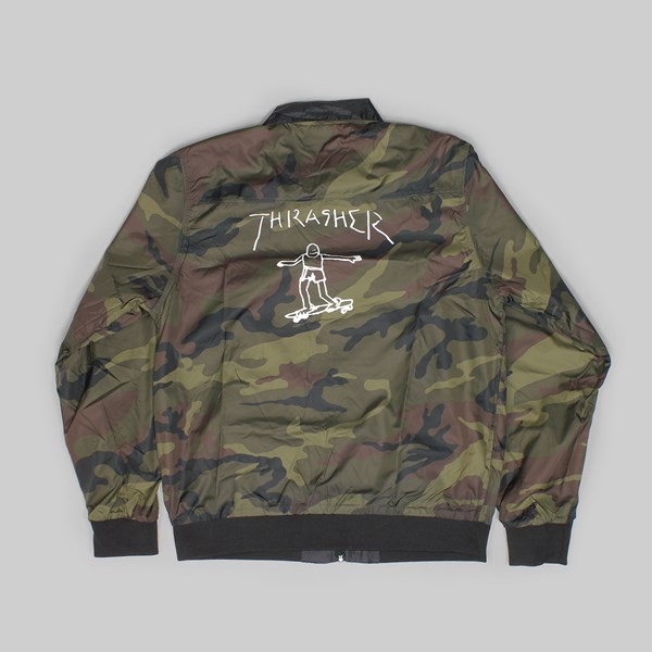 THRASHER GONZ REVERSIBLE JACKET BLACK CAMO