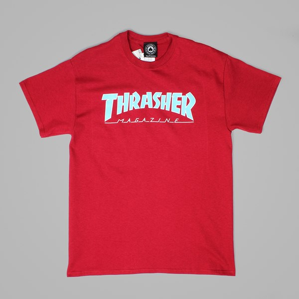 THRASHER MAG OUTLINED TEE CARDINAL