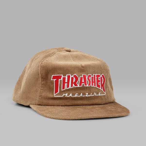 133c8f9e05ec THRASHER MAGAZINE LOGO CORDUROY CAP GOLD ...