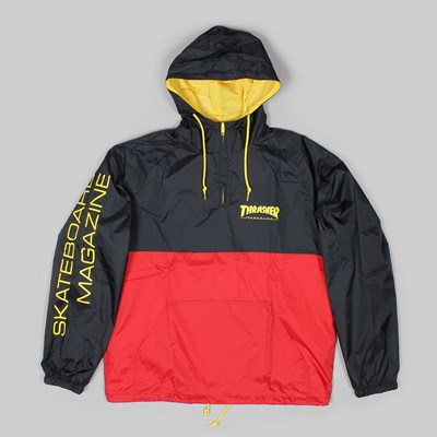 THRASHER MAGAZINE MAG LOGO JACKET BLACK RED