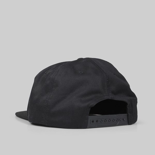 THRASHER MAGAZINE OUTLINED SNAPBACK CAP BLACK