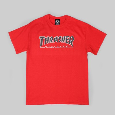 THRASHER MAGAZINE OUTLINED SS TEE RED