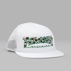 THRASHER ROSE MESH TRUCKER CAP WHITE