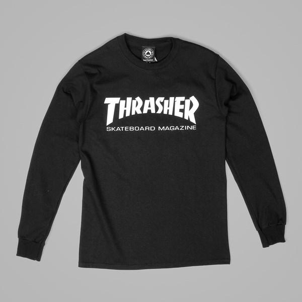 2417724ee98c THRASHER SKATE MAG LOGO LS TEE BLACK