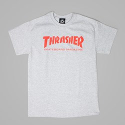 THRASHER SKATE MAG LOGO SS TEE GREY RED