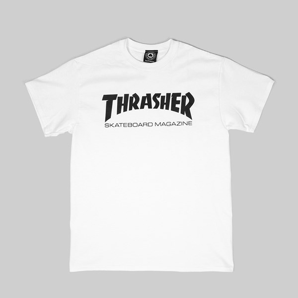 Thrasher T Shirt Skate Mag White