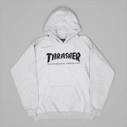THRASHER SKATE MAG PO HOOD HEATHER GREY