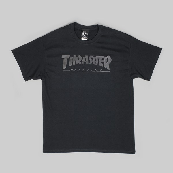 THRASHER SKATE MAG SS T-SHIRT BLACK ON BLACK