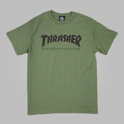 THRASHER SKATE MAG T SHIRT ARMY GREEN