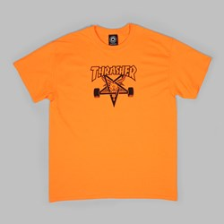 THRASHER SKATEGOAT SS T-SHIRT SAFETY ORANGE