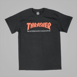 THRASHER TWO TONE SKATEMAG TEE BLACK