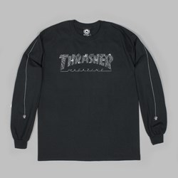 THRASHER WEB LONG SLEEVE T-SHIRT BLACK