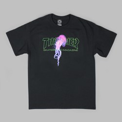 THRASHER X ATLANTIC DRIFT T-SHIRT BLACK