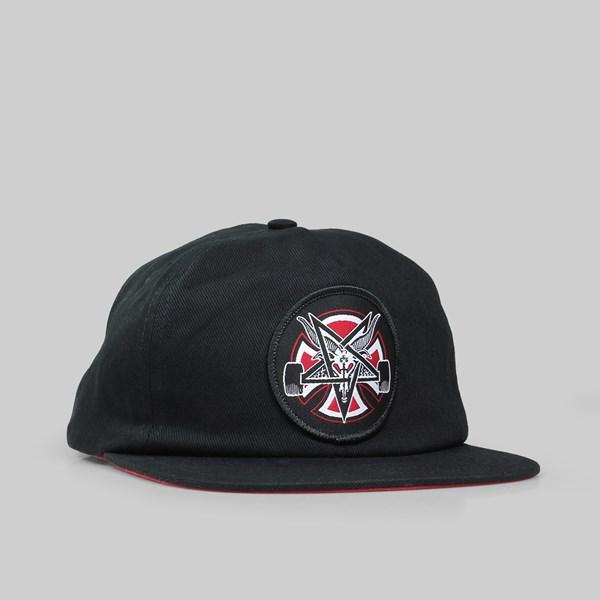 THRASHER X INDY SNAPBACK CAP PENTAGRAM CROSS BLACK ... af15071b338a