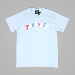 THRASHER X PARRA KNOCK OFF TEE LIGHT BLUE