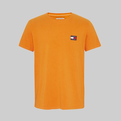 TOMMY JEANS TOMMY BADGE SS TEE RUSSET ORANGE
