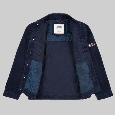 TOMMY JEANS CORD JACKET BLACK IRIS