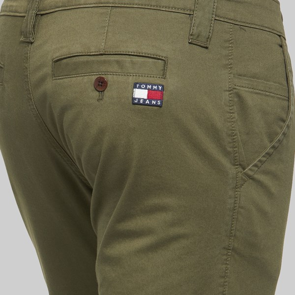 TOMMY JEANS SCANTON CHINO PANT OLIVE NIGHT