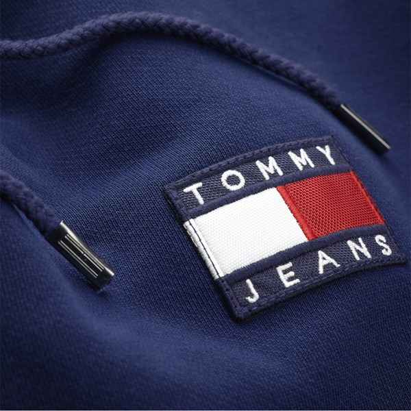 TOMMY JEANS TOMMY BADGE HOOD BLACK IRIS
