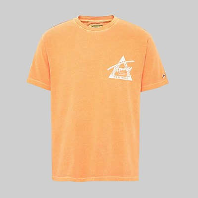 TOMMY JEANS WASHED GRAPHIC SS TEE RUSSET ORANGE