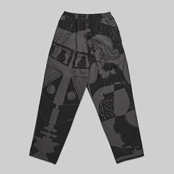 POLAR SKATE CO. TK SURF PANTS BLACK GRAPHITE