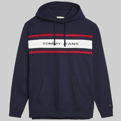 TOMMY JEANS FLEECE HOODIE BLACK IRIS