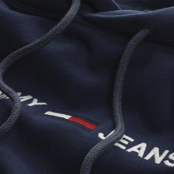 TOMMY JEANS SMALL LOGO HOODIE BLACK IRIS
