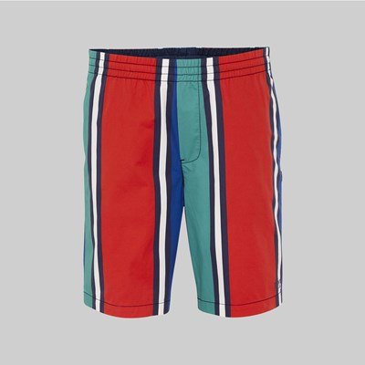 TOMMY JEANS STRIPE BASKETBALL SHORT DYNASTY GREEN