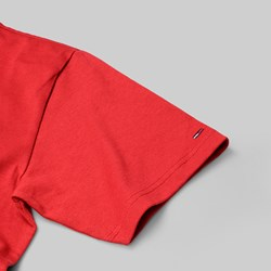 TOMMY JEANS CIRCLE PREMIUM SS T-SHIRT RED