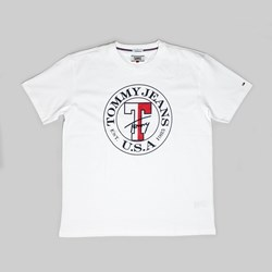 TOMMY JEANS CIRCLE PREMIUM SS T-SHIRT WHITE