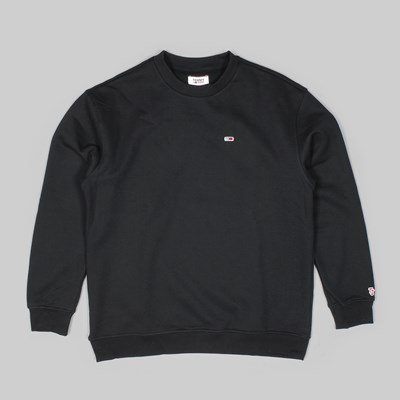 TOMMY JEANS CLASS HEAVYWEIGHT CREW BLACK