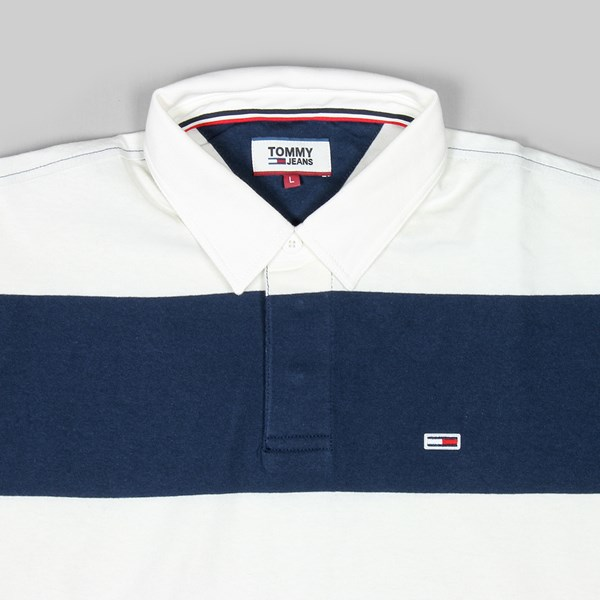 TOMMY JEANS CLASS HEAVYWEIGHT POLO WHITE BLACK