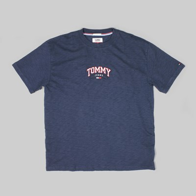 TOMMY JEANS COLLEGE EMB PREMIUM T-SHIRT NAVY GREEN