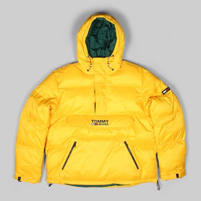 TOMMY JEANS PADDED POPOVER OUTERWEAR JACKET YELLOW