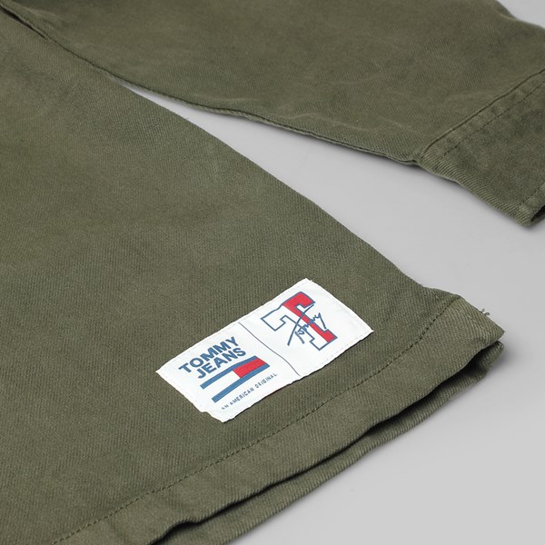 TOMMY JEANS TWILL OVERSHIRT WOVEN TOP GREEN