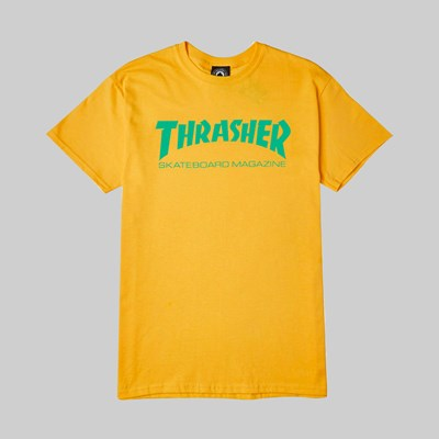 THRASHER SKATE MAG T SHIRT GOLD