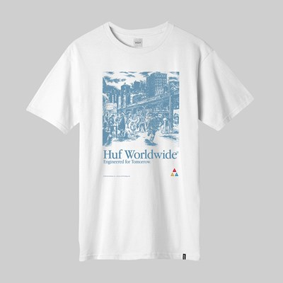HUF TOMORROW SS T-SHIRT WHITE