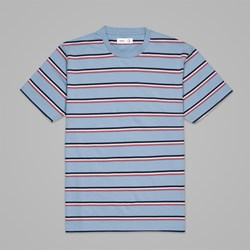 POLAR X TRES BIEN STRIPED TEE POWDER BLUE