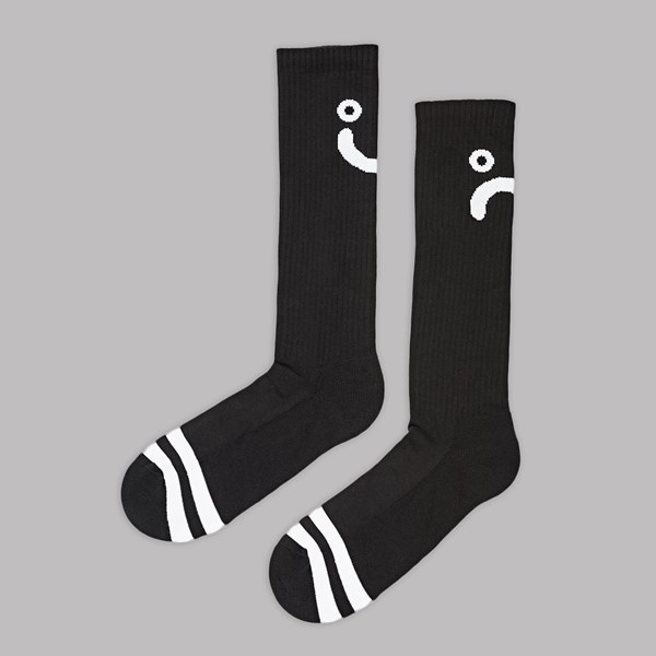 POLAR SKATE CO. UPSIDE DOWN SOCK BLACK WHITE