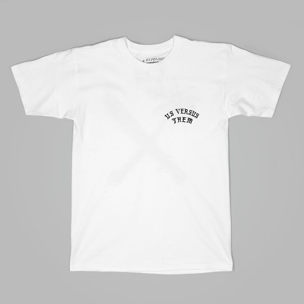US VERSUS THEM CROSSCUT GOTHIC TEE WHITE